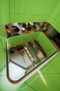 Stairwell at the Lowy Cancer Research Centre on the UNSW campus, Randwick. This building is the headquarters of the Children's Cancer Institute Australia