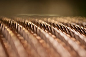 Copper conductor for power cable at the Prysmian Group, Liverpool factory.