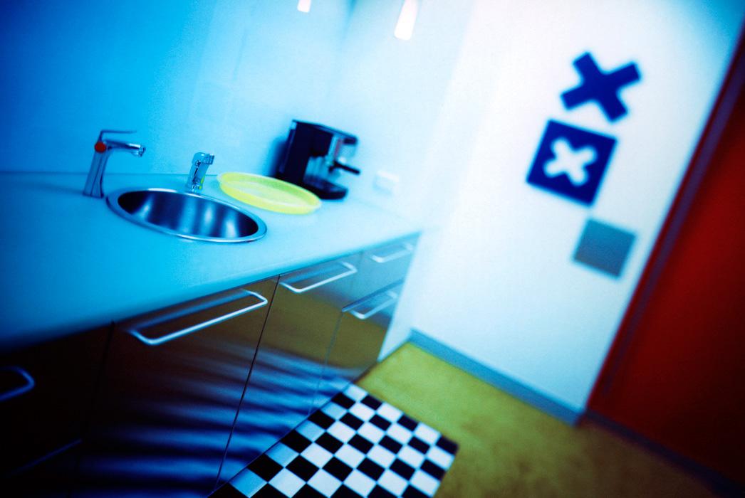 Kitchen interior of Vodaphone Australia, Chatswood NSW