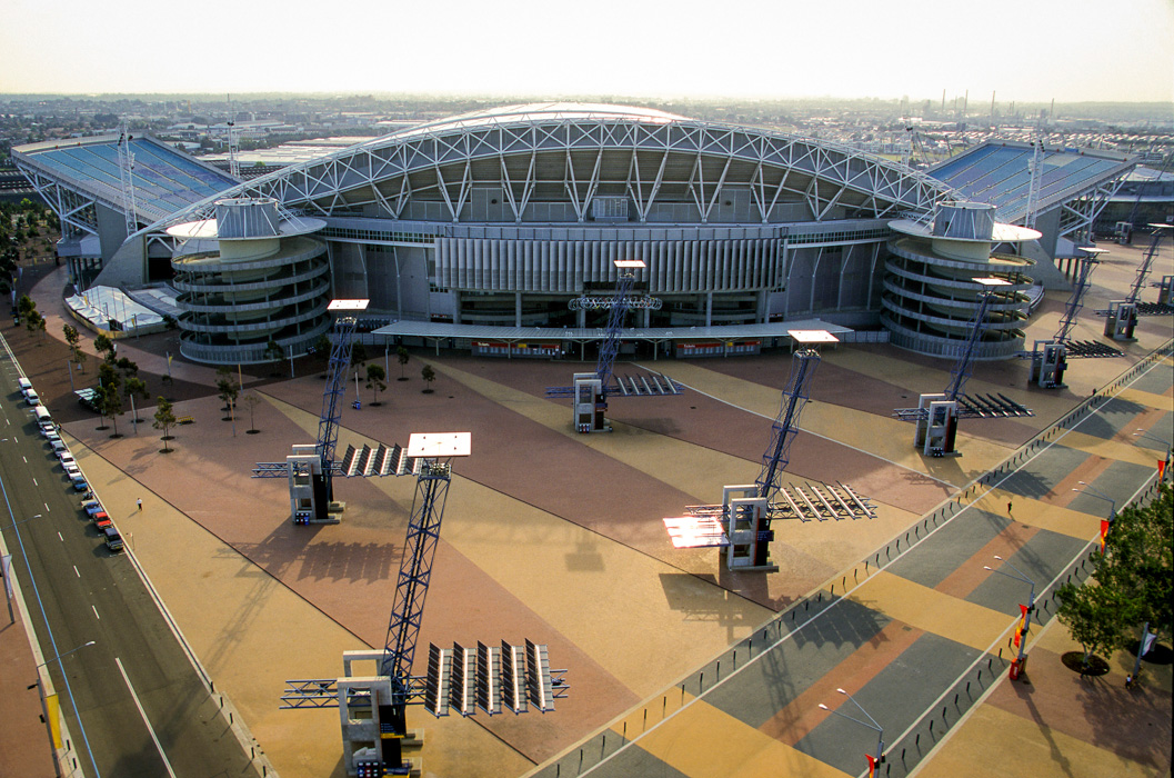 ANZ Stadium (Formerly Stadium Australia), photographed upon completion in 1999