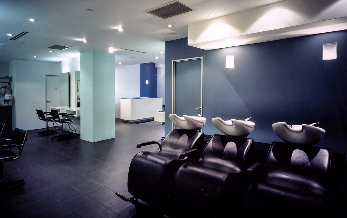 Hair salon interior. One to One Salon, Elizabeth St. Sydney