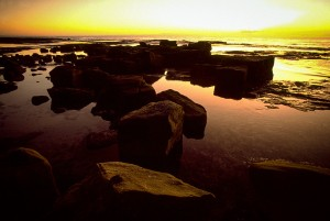 These rocks on NSW's South Coast worked beautifully with the sunrise to create a natural sculpture in the still water.