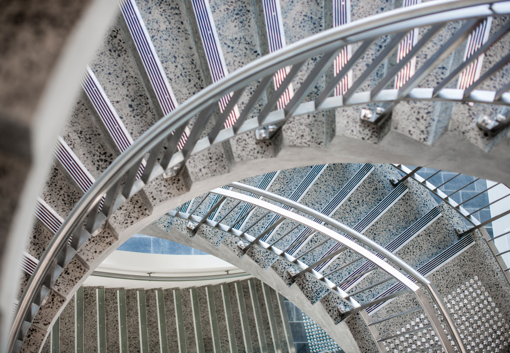 Spiral stairs at the Sydney University, Kolling Building, Royal North Shore Hospital.