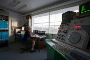 Control room at the Molonglo Observatory Synthesis Telescope (MOST). The telescope is located near Canberra and is operated by the School of Physics of the University of Sydney.